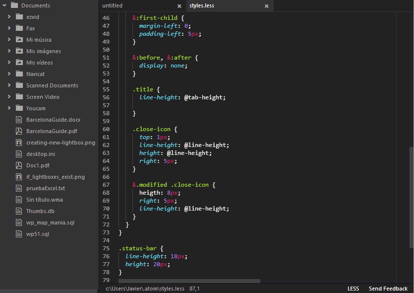 A compact stylesheet for Atom editor